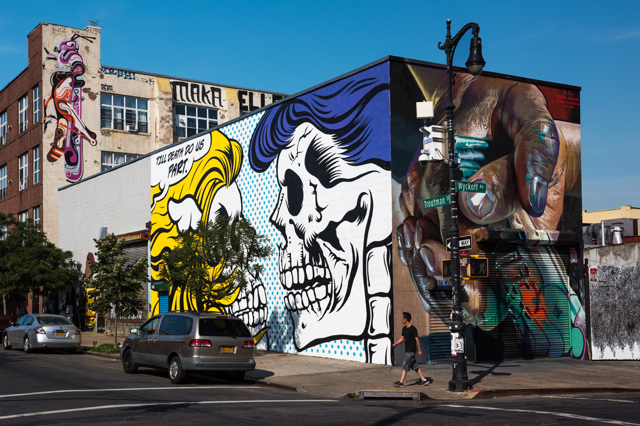 Case Maclaim and D*Face for the Bushwick Collective