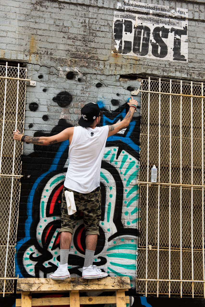 Dinkc at work for the Bushwick Collective