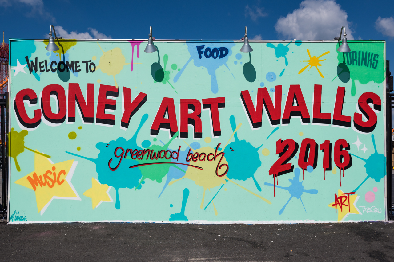 Headlining today's post ... Welcome to Coney Art Walls 2016 by Tats Cru