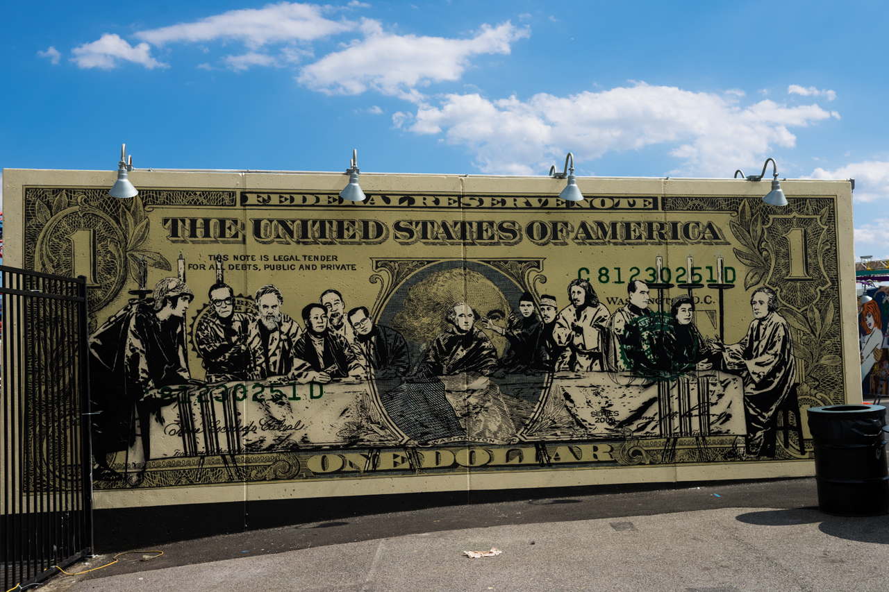 Last supper at the almighty dollar - Icy & Sot for Coney Art Walls 2016
