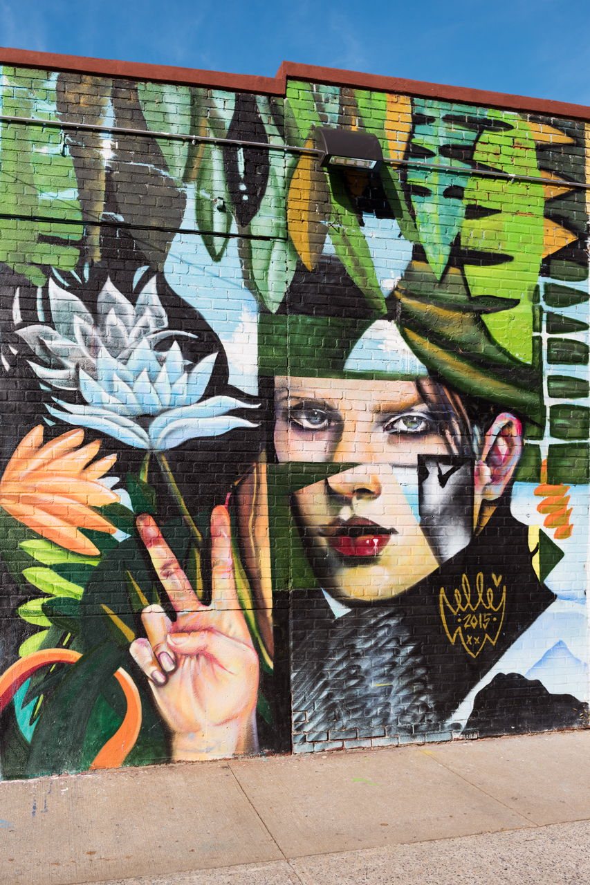 Mural by Elle in Greenpoint