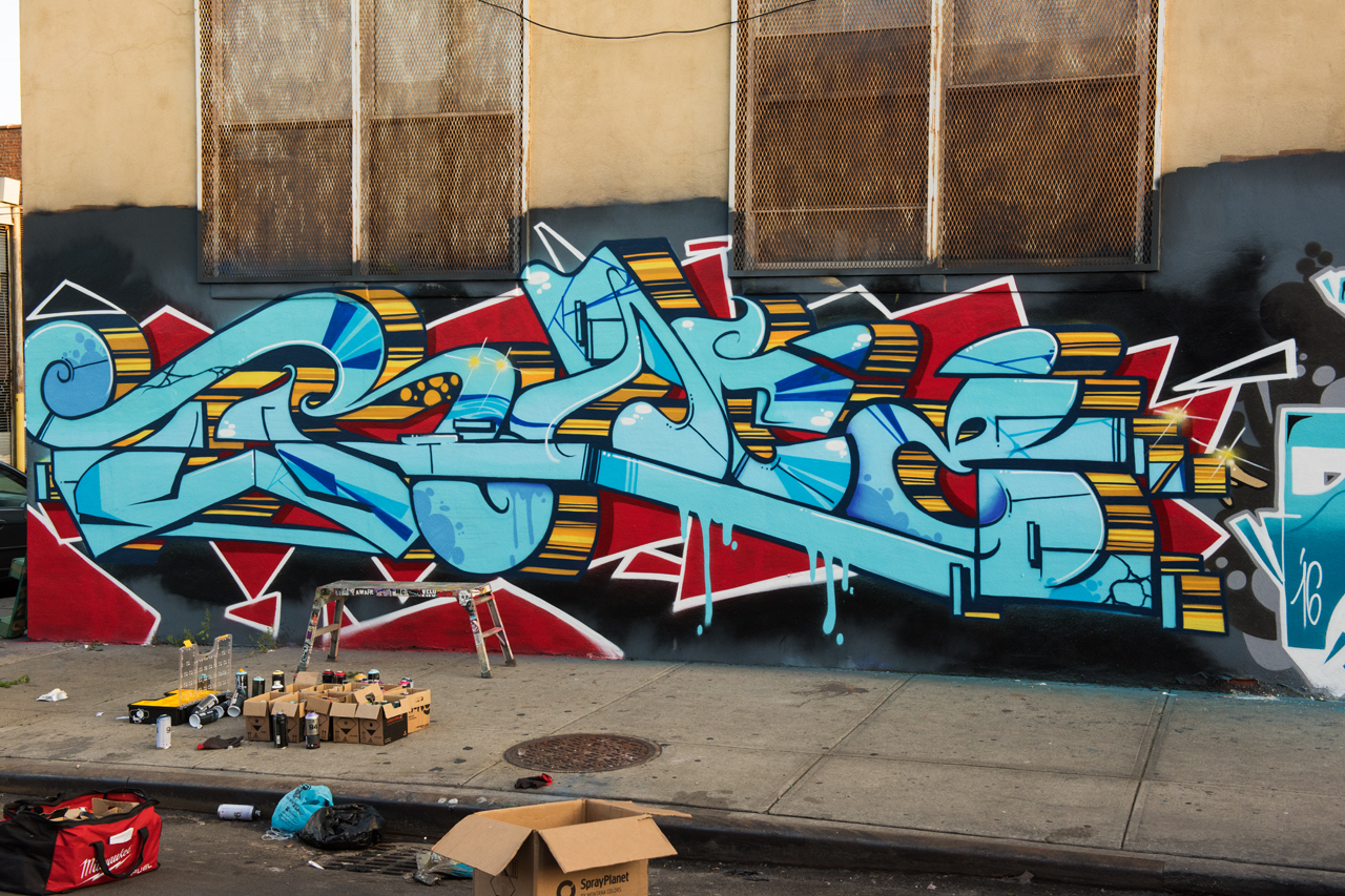 Headlining today's post ... a recent piece by Trace underway in Brooklyn