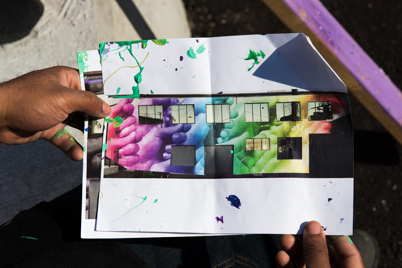 Headlining today's post ... Gaia's design for the Open Works mural