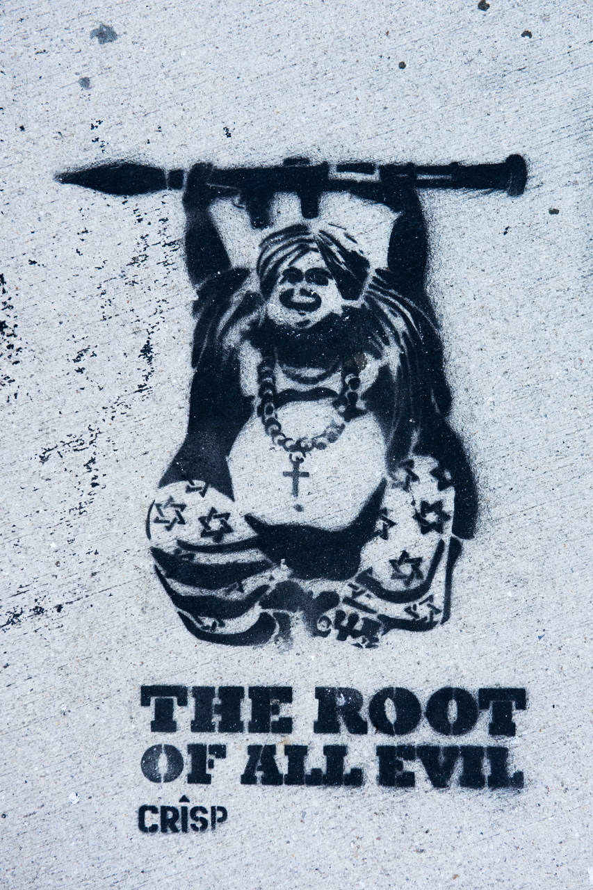 The root of all evil - stencil by Crisp
