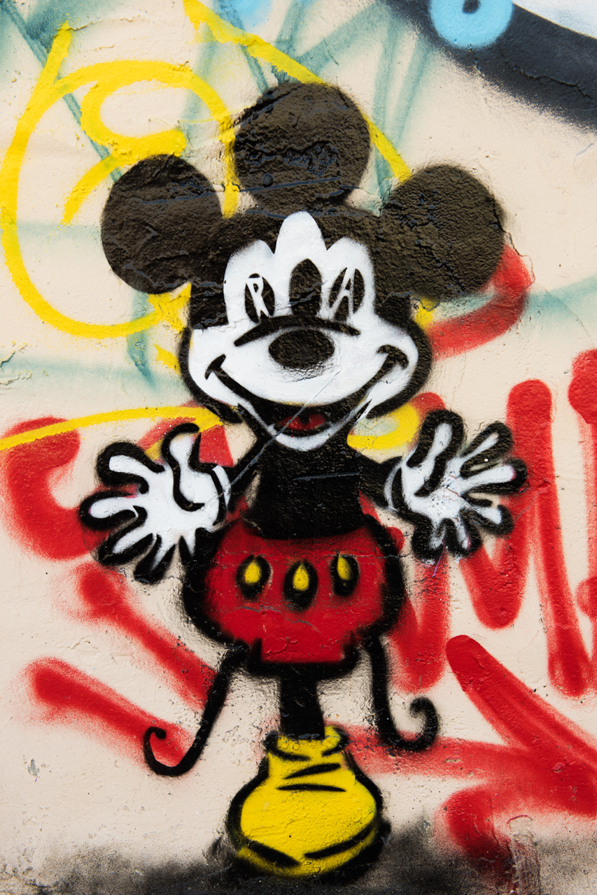 Genetically-altered Mickey - stencil by an unidentified artist