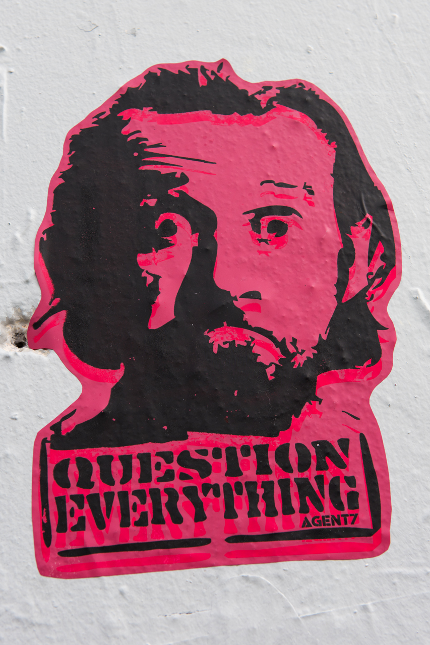 Artist thatagent7 recommends one question everything